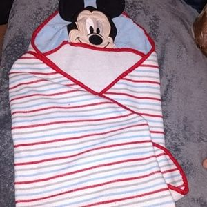 Microfiber Mickey mouse hooded baby towel